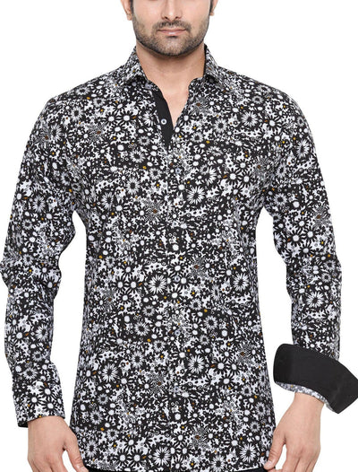 Peter Sterling Black Men's Regular Fit Classic Long Sleeve Casual Shirt - Sync With Style - Casual Shirts - Peter Sterling  - 3