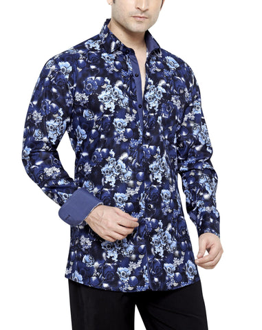Peter Sterling Blue Men's Regular Fit Classic Long Sleeve Casual Shirt - Sync With Style - Casual Shirts - Peter Sterling  - 1