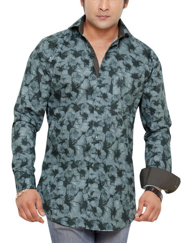 Peter Sterling Blue Men's Slim Fit Classic Long Sleeve Casual Shirt - Sync With Style - Casual Shirts - Peter Sterling  - 1