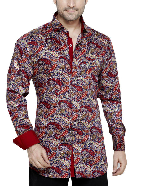Peter Sterling Red Men's Regular Fit Classic Long Sleeve Casual Shirt - Sync With Style - Casual Shirts - Peter Sterling  - 3