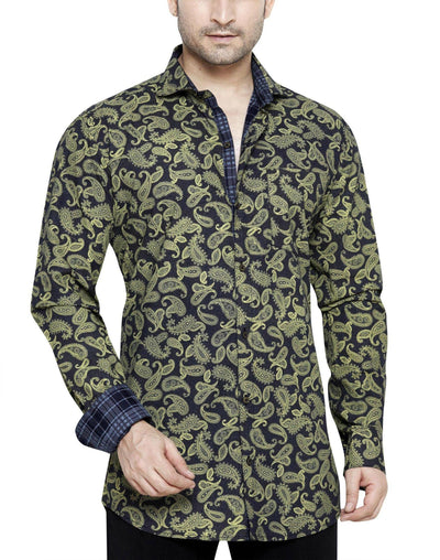 Peter Sterling Yellow Men's Slim Fit Classic Long Sleeve Casual Shirt - Sync With Style - Casual Shirts - Peter Sterling  - 1
