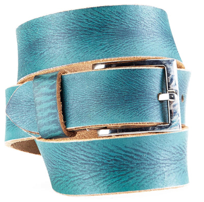Bradley Crompton Mens Womens Unisex Blue Leather Casual Belt - Sync With Style - Casual Belts - BRADLEY CROMPTON  - 2