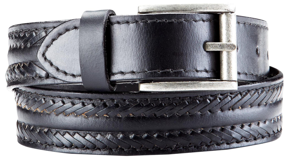 Bradley Crompton Mens Womens Unisex Black Leather Casual Belt - Sync With Style - Casual Belts - BRADLEY CROMPTON  - 1