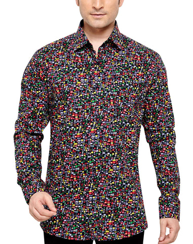 James Whistler Men's Regular Fit Classic Long Sleeve Casual Shirt - Sync With Style - Casual Shirts - James Whistler  - 1