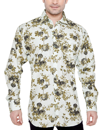 JAMES WHISTLER Men's Slim Fit Classic Long Sleeve Casual Shirt - Sync With Style - Casual Shirts - James Whistler  - 1