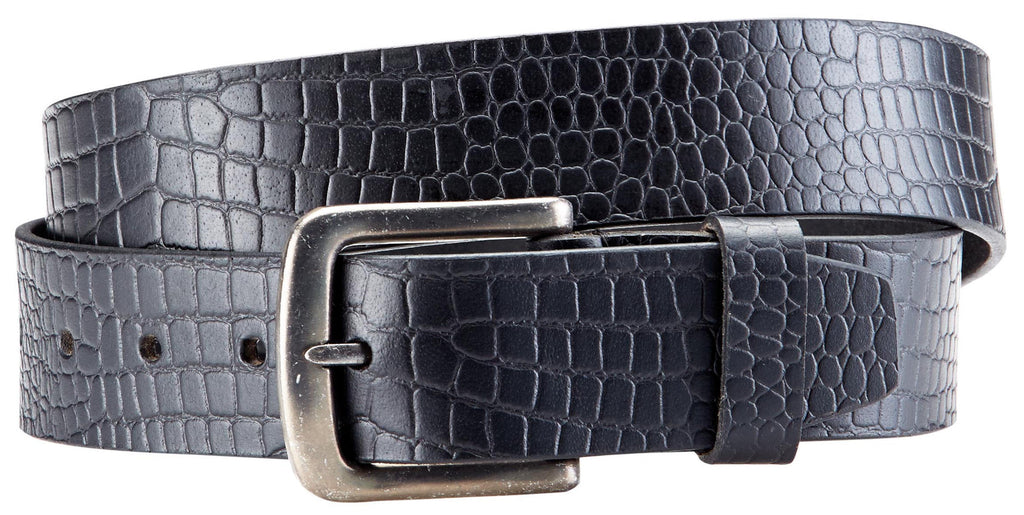 Bradley Crompton Mens Womens Unisex Black Leather Casual Belt - Sync With Style - Casual Belts - BRADLEY CROMPTON  - 6