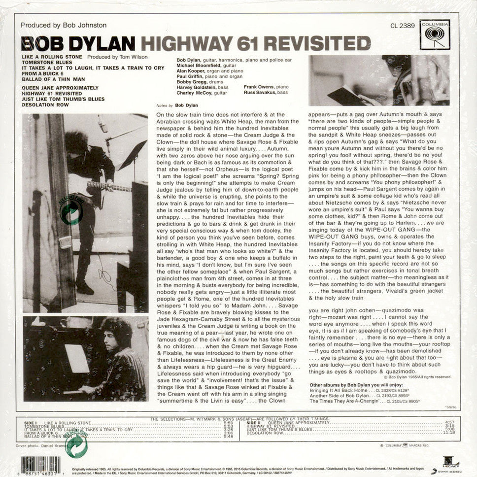 folk so wax records bob dylan highway 61 re ed 180 gram lp