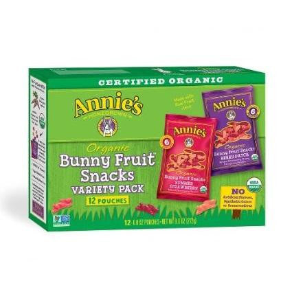 Annie's Homegrown Og2 Bunny Fruit Snacks (12x9.6oz)