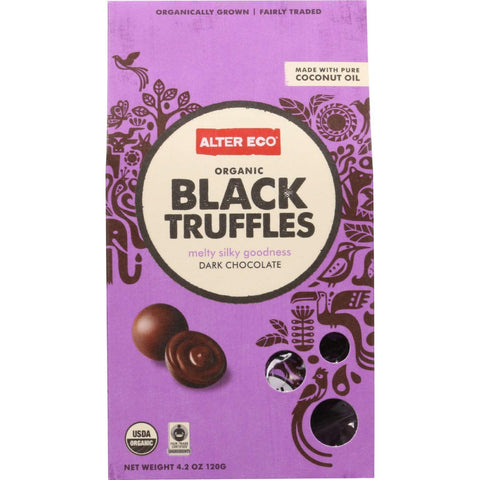 Alter Eco Americas Truffle  Organic  Black  10 Pack  4.2 Oz  Case Of 8