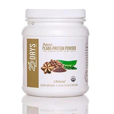 22 Days Organic Plant Protein Powder Natural (1x11.64 Oz)