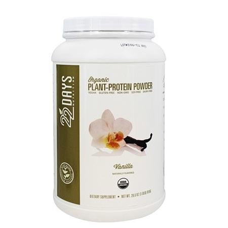 22 Days Organic Plant Protein Powder Vanilla (1x25.40 Oz)