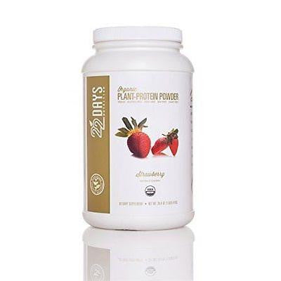 22 Days Organic Plant Protein Powder Strawberry (1x26.46 Oz)