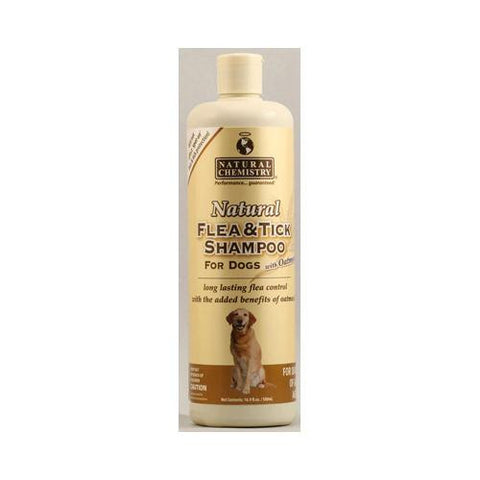 Natural Chemistry Natural Flea And Tick Shampoo For Dogs With Oatmeal (16.9 Fl Oz)