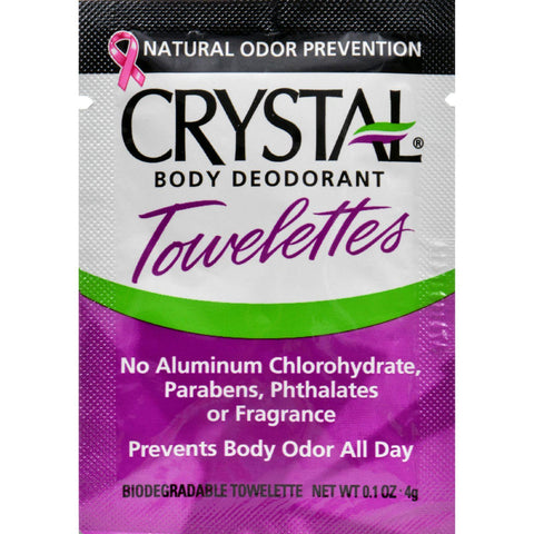 Crystal Deodorant Solo Towlette Display Case  Case Of 48  .1 Oz