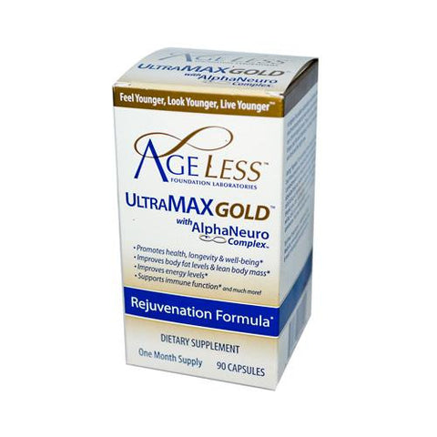 Ageless Foundation Ultramax Gold With Alphaneuro Complex (90 Capsules)