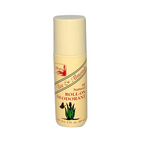 Alvera All Natural Roll-on Deodorant Aloe And Almonds (1x3 Oz)