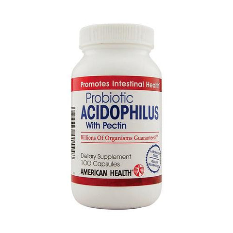 American Health Probiotic Acidophilus With Pectin (100 Capsules)