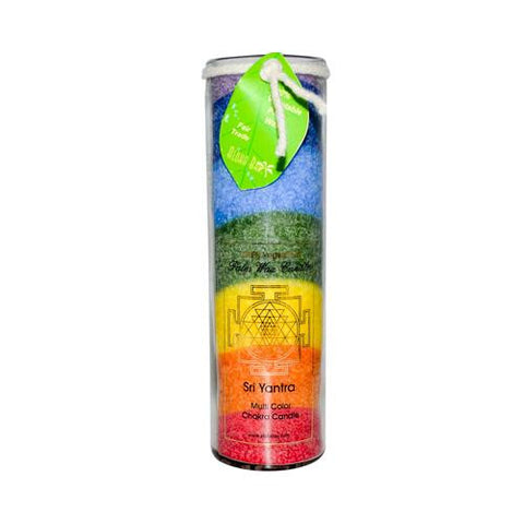 Aloha Bay Unscented Chakra Jar Rainbow Sri Yantra 7 Color (1 Candle)