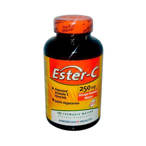 American Health Ester-c Orange 250 Mg (1x125 Wafers)