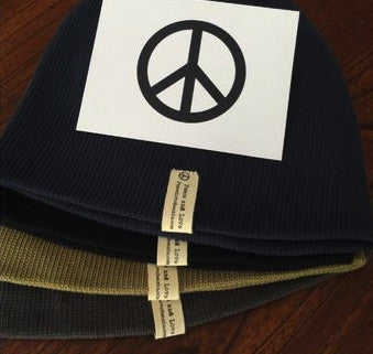 Peace Love and BEANIES, 100% organic cotton