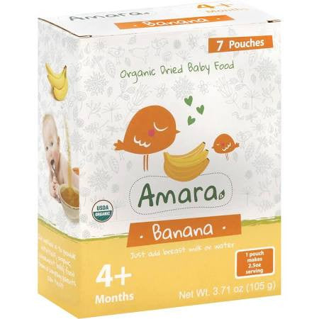 Amara Banana, 7 Pouches (6x3.71 Oz)