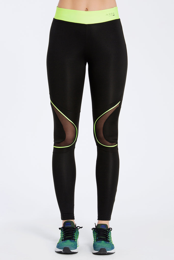 Dark Neon Full Length Leggings