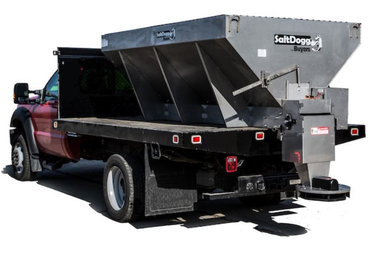 Buyers SaltDogg 1400560SSE 5.5 Cubic Yard Electric Motor Stainless Steel Mid-Size Hopper Spreader
