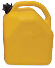 "ITD7042 - 5-Gallon Plastic ""Diesel"" Can. (YELLOW)"