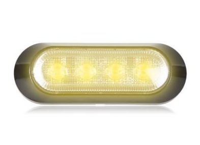 "M20384YCL Maxxima Ultra 0.9"" Thin Profile 4 LED Warning Light - Amber Clear"