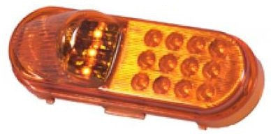 M63120Y Maxxima OVAL AMBER SIDE TURN/SIDE MARKER