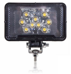 MWL-26 Maxxima RECTANGULAR LIGHT WEIGHT 500 LUMEN 9 LED WORK LIGHT