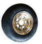 "WA-4DA - 4.80x8 LOAD RANGE ""C""  (760 lb -- 338 kg)   CARLISLE TIRE ON DIAMOND-CUT FINISHED ALUMINUM WHEEL"