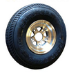 "WA-5DA - 5.70x8 LOAD RANGE ""D"" (1070 lb -- 488 kg)   CARLISLE TIRE ON DIAMOND-CUT FINISHED ALUMINUM WHEEL"