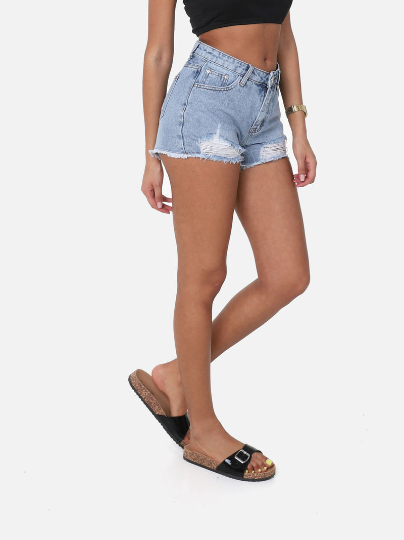 Destroyed Jeans Shorts, M001