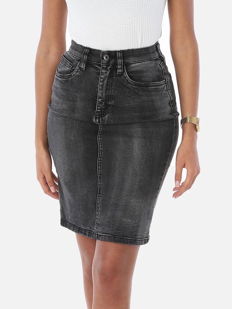 High Waist Jeansrock