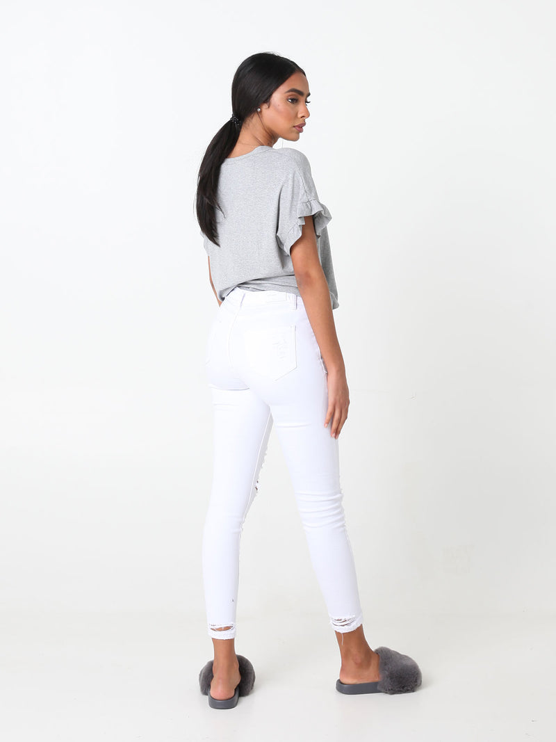 Destroyed Jeans White