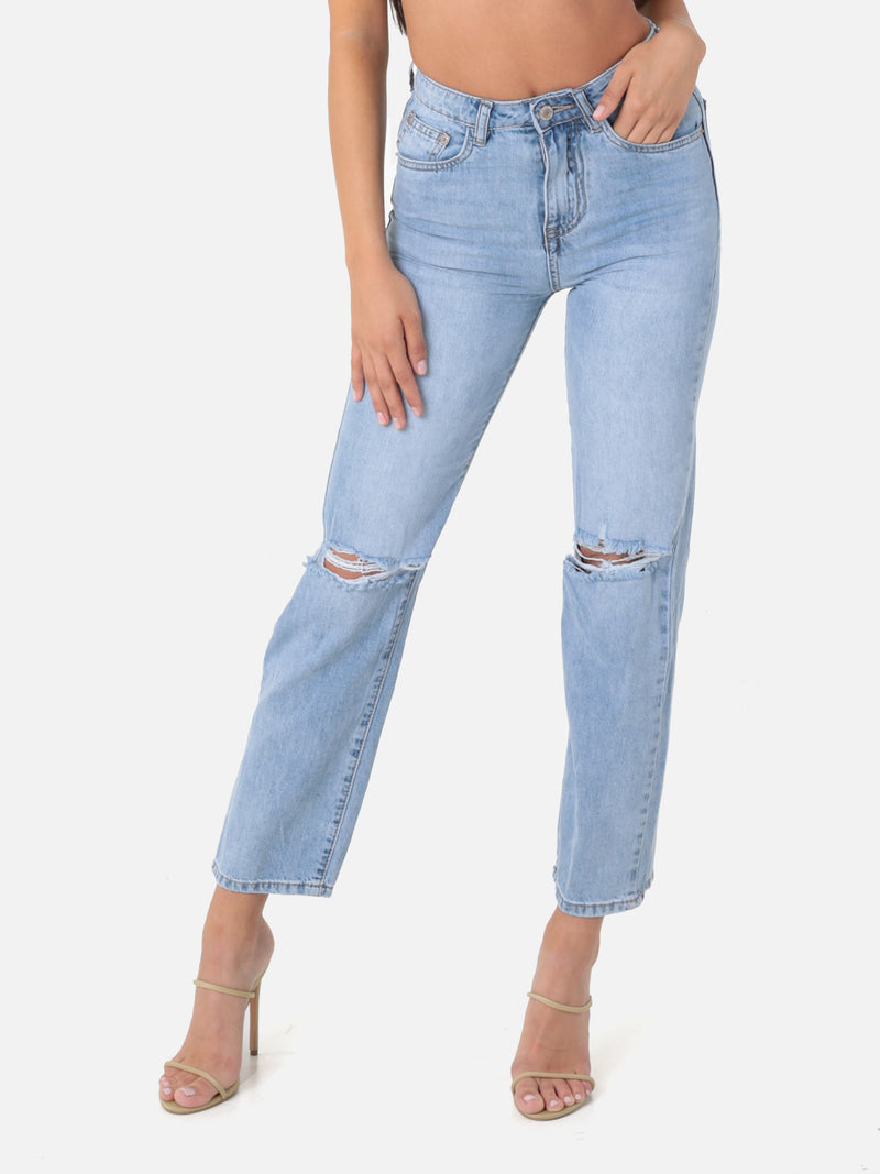 Baggy Jeans mit Cut Outs