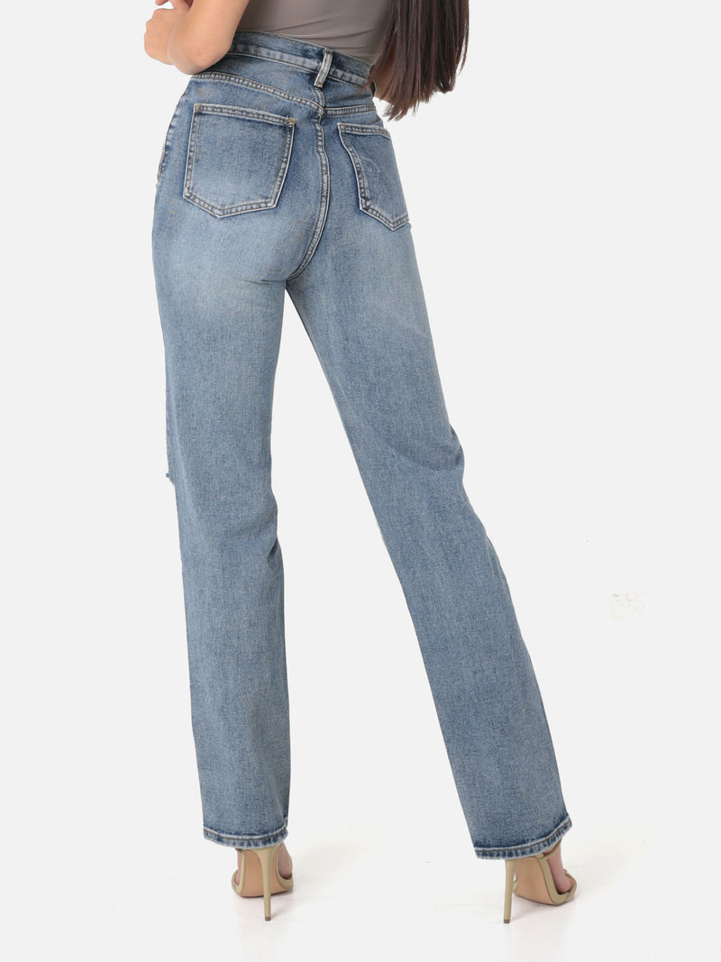 Baggy Jeans mit Cut Out