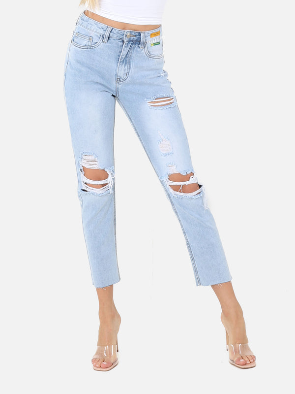 Destroyed Bootcut Jeans