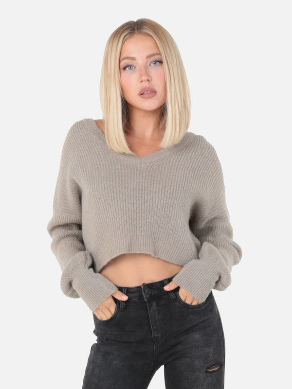 Crop Strickpullover