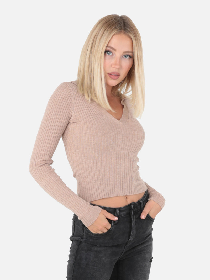 Crop Top mit Kragen