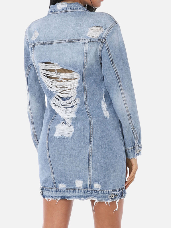 Destroyed Jeansjacke