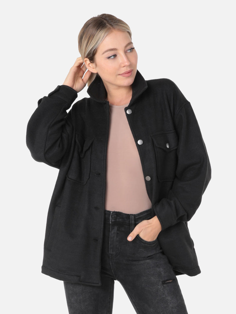 Fleece Hemdjacke