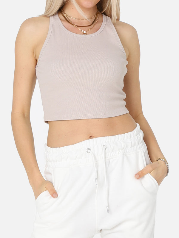 Geripptes Crop Top