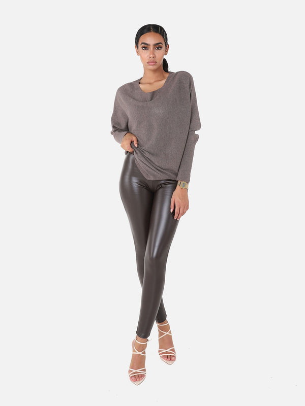 Gefütterte High Waist Leggings