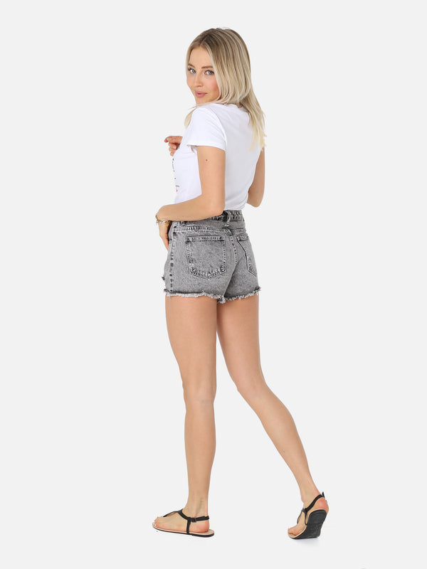 Jeans Shorts - Anthrazit