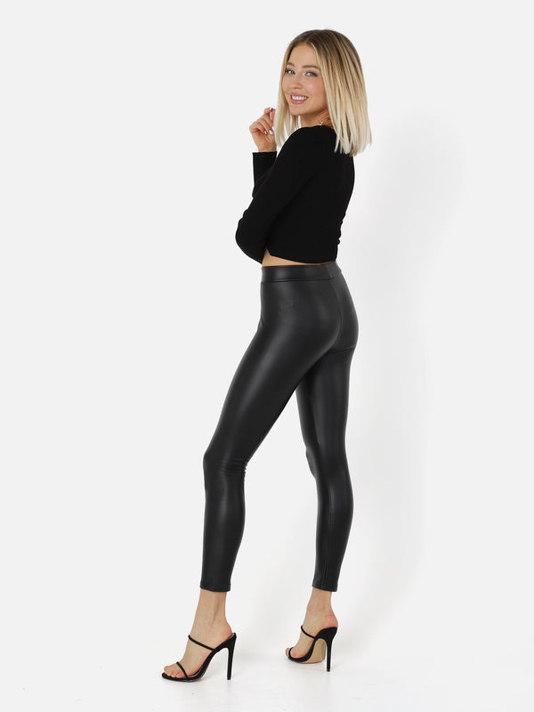 Kunstleder Leggings Matt