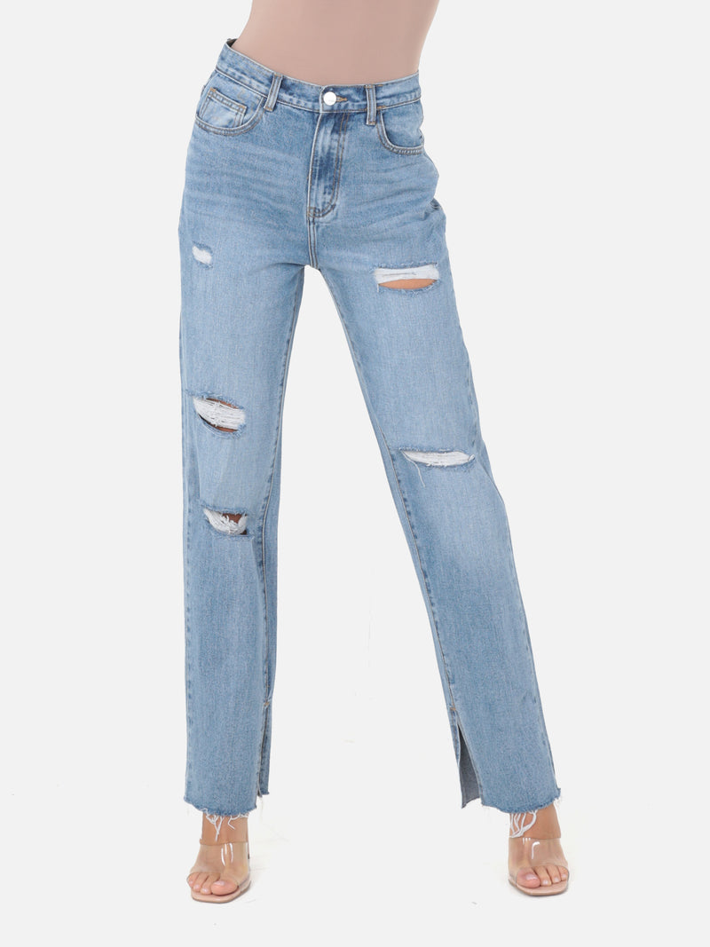 Palazzo Trashed Jeans