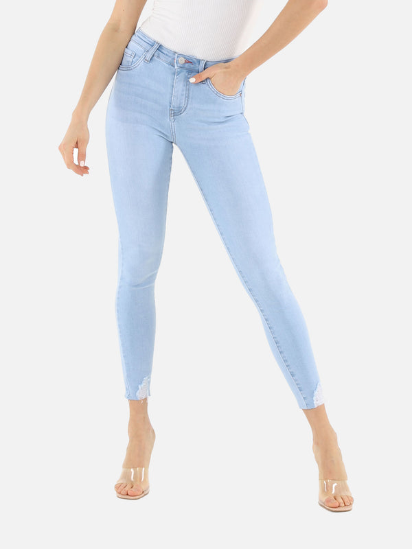 Skinny Crop High Waist Jeans