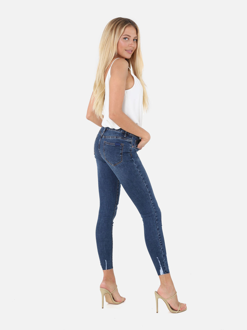 Skinny Crop Jeans - Denim